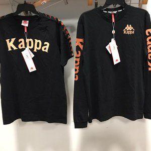 NWT Kappa 2 piece set top black T Shirts tee L